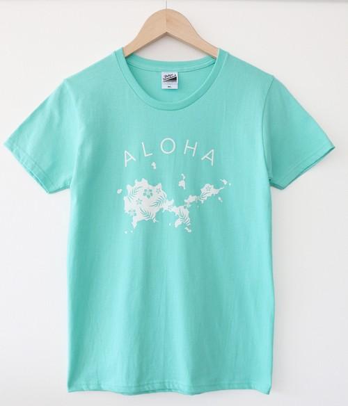 【残りわずか】オオシマアロハTシャツ/ターコイズブルー