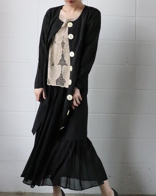 80's black dress come gown