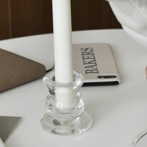 glass candle holder / ガラス テーパー キャンドル ホルダー スタンド 韓国 北欧