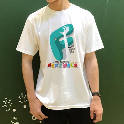 """ボルダリング """"F"""" メンズ Tシャツ"""