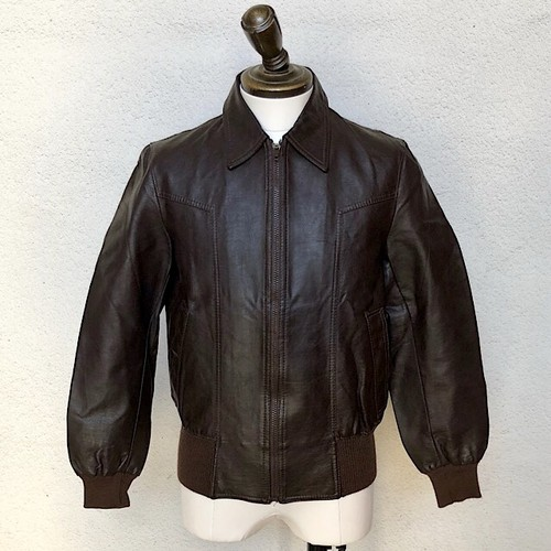 1970s Italian Leather Jacket Confezioni Brown