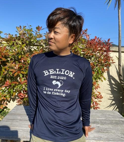 BE:LION. /ドライロングスリーブTシャツ  ネイビー
