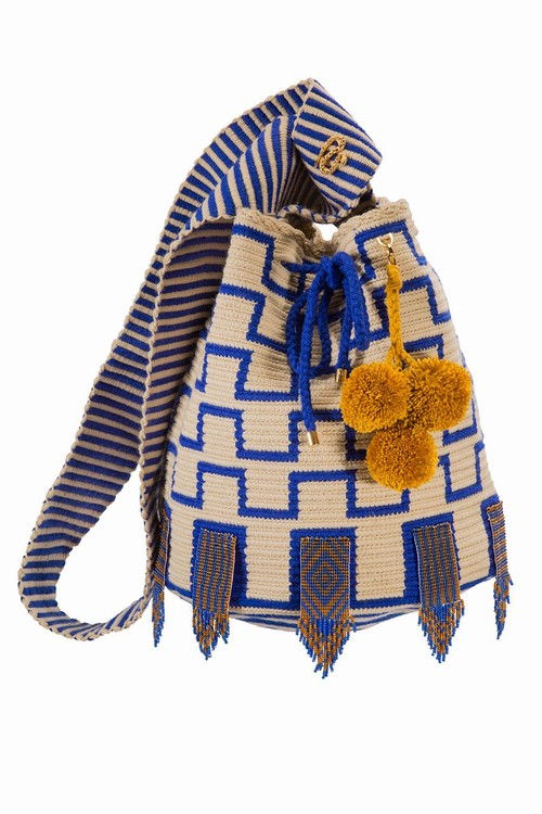 【Pre-order】ワユーバッグ (Wayuu bag) With Bead Art H