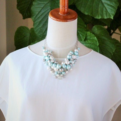 ~艶~3way necklace~(Aqua)
