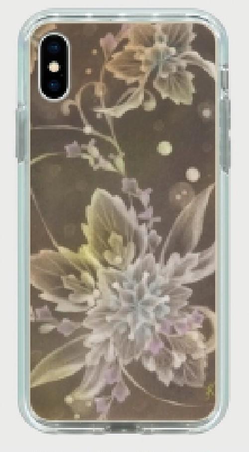 スマホミラーケース 桐の花 iPhone8Plus, iPhone7Plus仕様