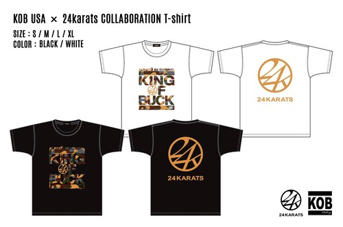 KOB USA × 24karats COLLABORATION T-shirt