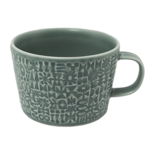 BIRDS' WORDS Patterned Mug squall gray