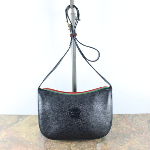 .OLD GUCCI SHERRY LINE LEATHER SHOULDER BAG MADE IN ITALY/オールドグッチシェリーラインレザーショルダーバッグ 2000000045382