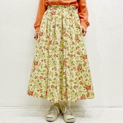 (LOOK) flower flare skirt