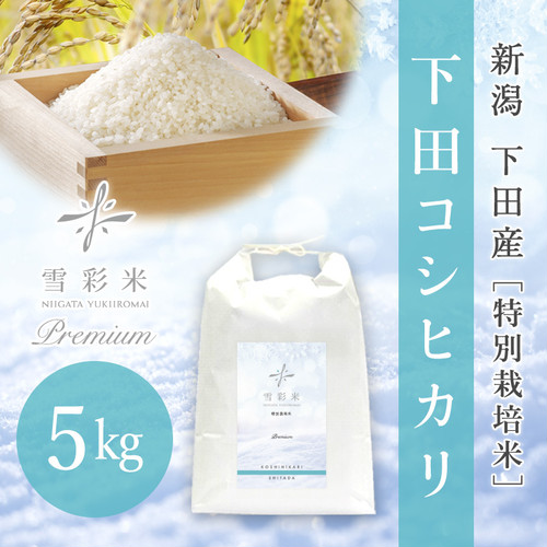 【雪彩米Premium】下田産 特別栽培米 令和2年産 下田コシヒカリ 5kg