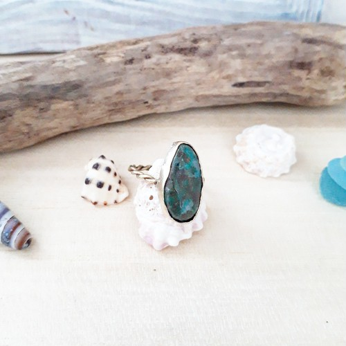 beach ring - chrysocolla -
