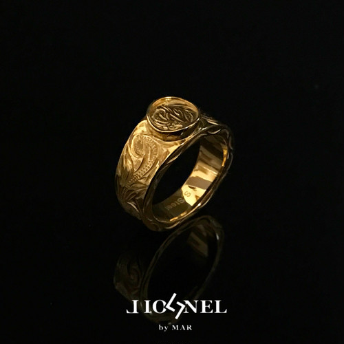 8/27発送 24kgp Hawaiian jewelry ring(coin)