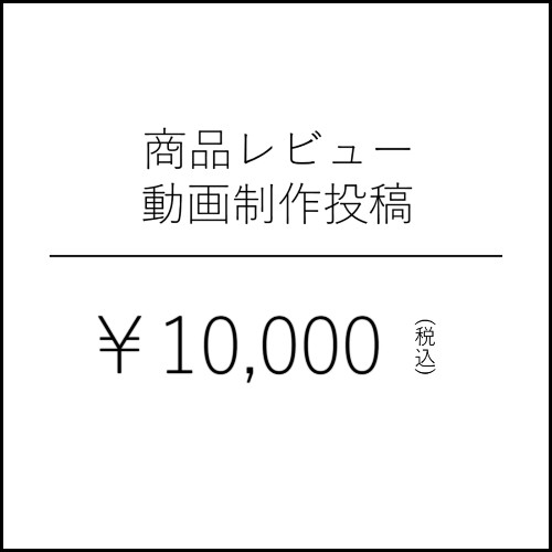 商品レビュー動画制作投稿