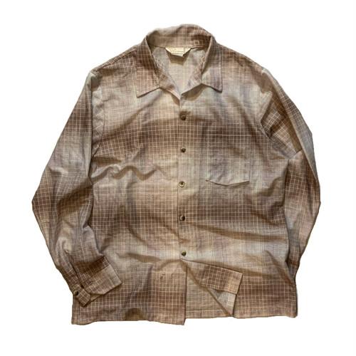 OLD open collar shirt グラデーション