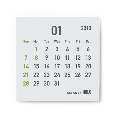 STICKY CALENDAR 2018 付箋カレンダー 2018
