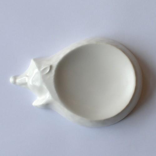 kiyataの豆皿 [ハリネズミ]ホワイト