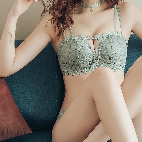 【下着】セクシーワイヤーなしブラジャーセット18210947