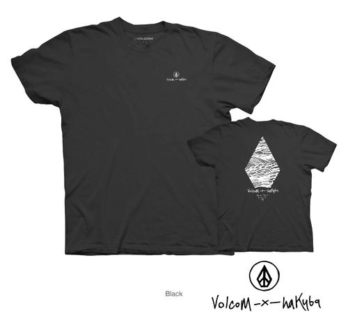 【在庫処分価格!大幅値下げ中】Volcom × Hakuba 限定Tシャツ (ブラック)