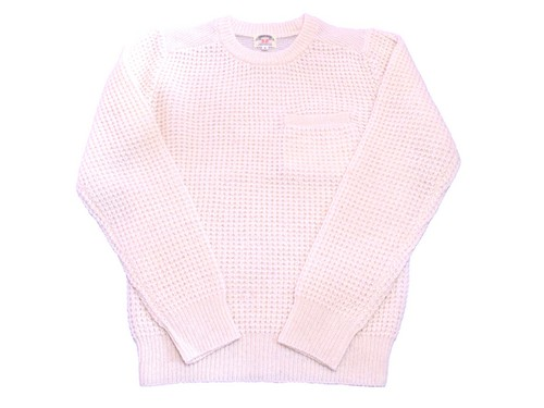 SMART SPICE・WAFFLE KNITTING CREW NECK SWEATER NATURAL