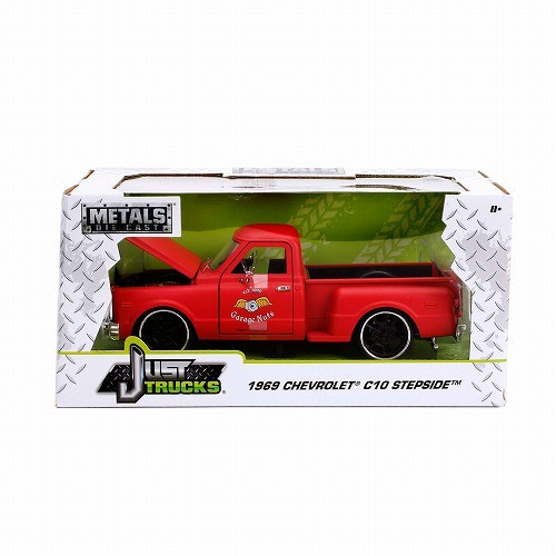 1:24 Jadaミニカー 99322 1969 Chevy C-10 Primer Red