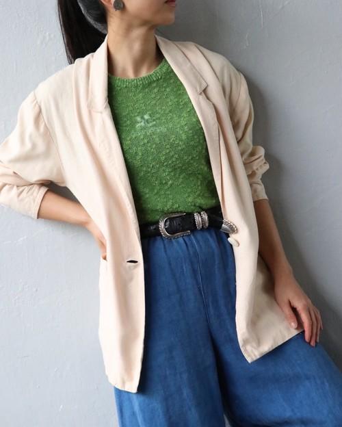 beige silk jacket