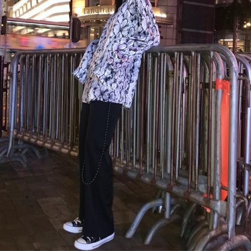 【トップス】長袖 シンプルプリントPOLOネックシャツ26303265