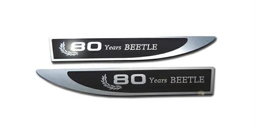 vw フォルクスワーゲン ザビートル サイドエンブレム (80th anniversary) 2pcs The Beetle カー用品