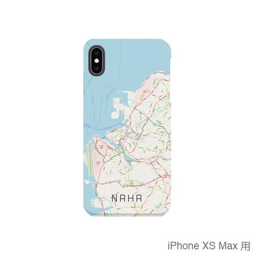 【那覇】地図柄iPhoneケース(バックカバータイプ・ナチュラル)