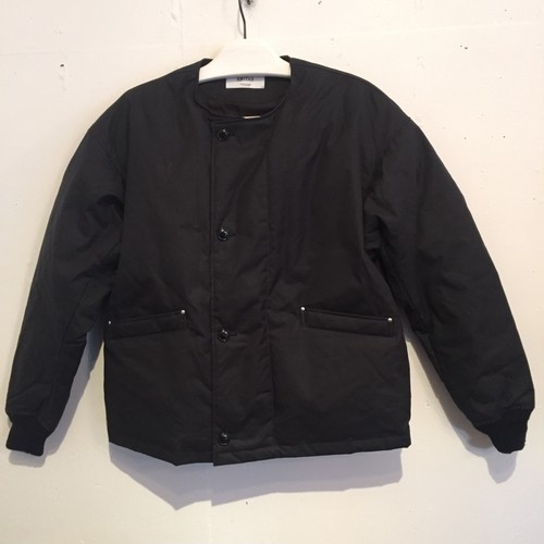 【UNITUS】Waxed Down Flight Jacket [BLACK]