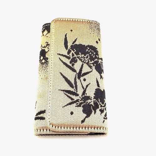 キーケースkk0050西陣織和柄&ヌメ革