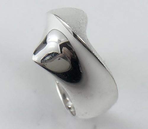 コントラストの美シルバーデザインリングJE16