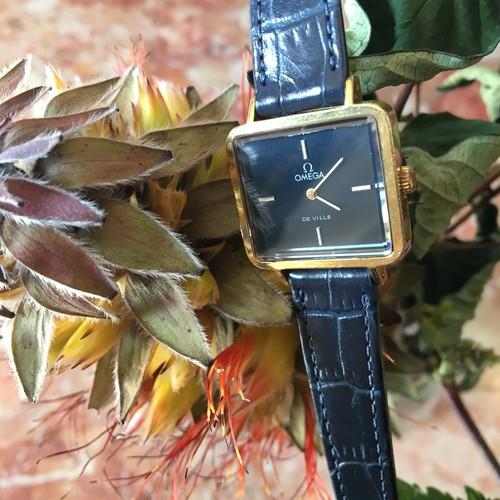 OMEGA  DE VILLE スクエア vintage手巻き 腕時計