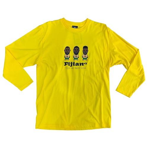 【YBC】TRIO DE BACK LINE Long Sleeve T-Shirts Yellow