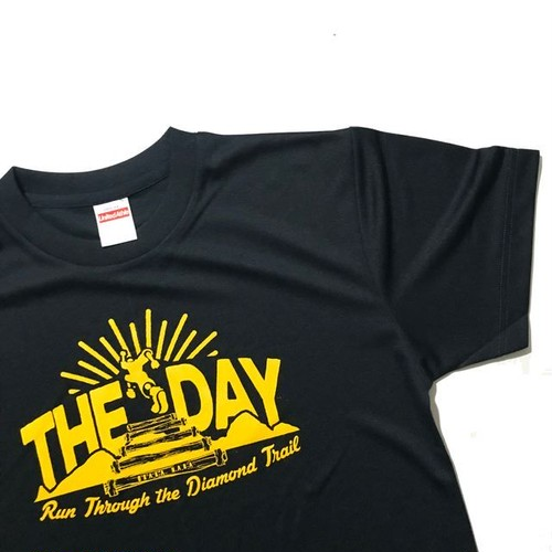 THE DAY TRAIL T-SHIRTS 2018 NAVY YELLOW