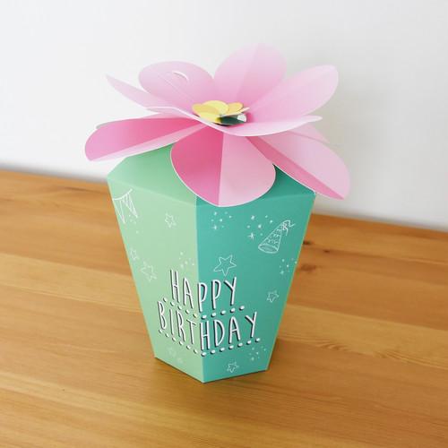 誕生日祝い  フラワーボックス POP【大】
