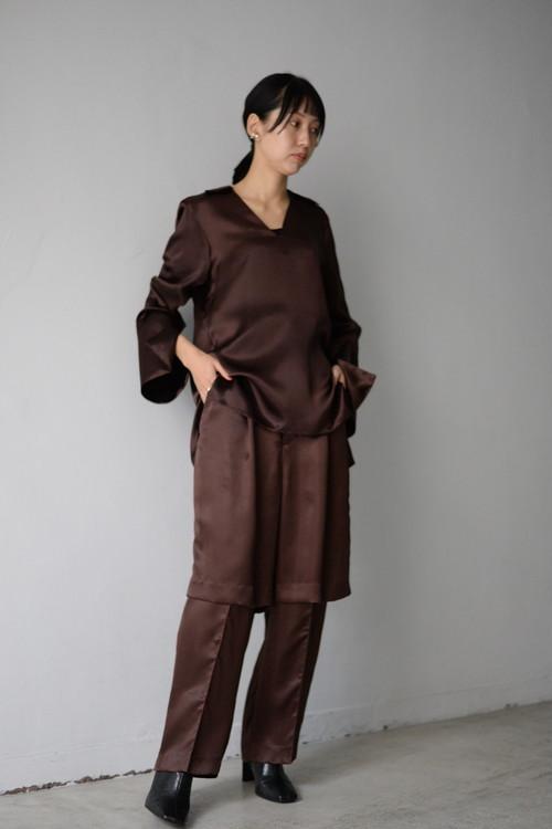 UNDECORATED / CU STIN LAYERD PT (brown)