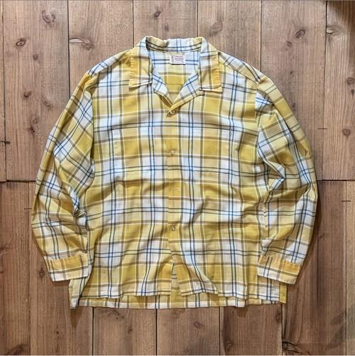60-70's town craft open collar shirt!!