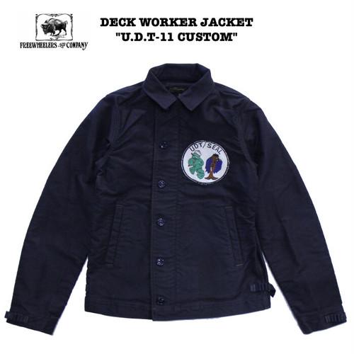 """U.D.T.-11 CUSTOM"" DECK WORKER JACKET FREEWHEELERS / フリーホイーラーズ UNION SPECIAL OVERALLS #2021009 N-1 / デッキジャケット / ミリタリー / U.S.NAVY / カスタム"