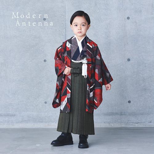 《2色》【5歳男児/小紋アンサンブル袴セット】(受注商品 納期約2.5~3ヵ月)