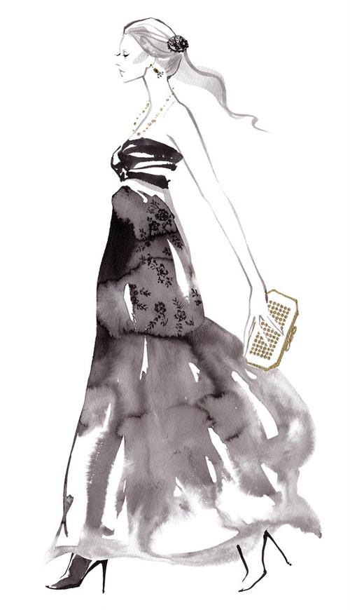 原画(額付き)/Black dress
