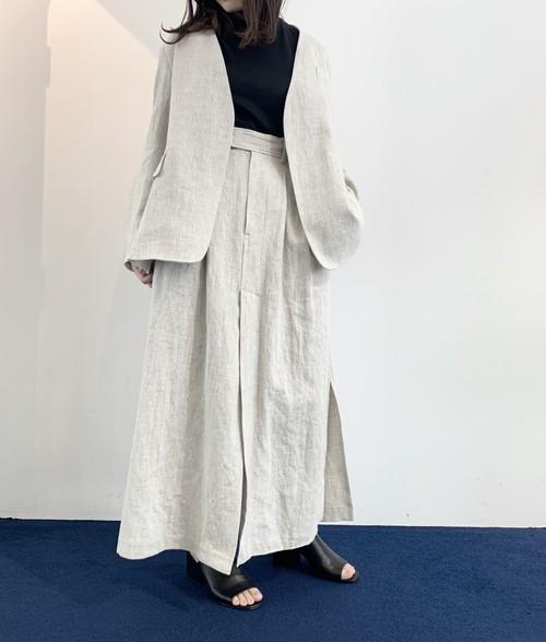 【20SS】INSCRIRE アンスクリア / Linen Tuck Skirt