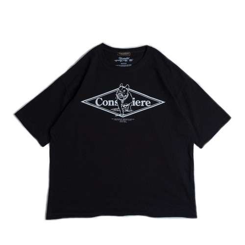 Consigliere Garments/コンシリエーレガーメンツ Gabo T-shirt type-A Black