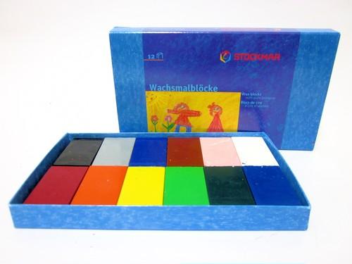 みつろうブロッククレヨン 12色紙箱
