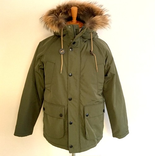Thinsulate Field Jacket with Racoon Fur Khaki