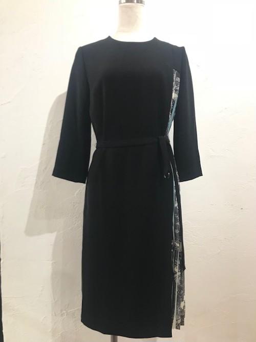 サイドグラデーションプリーツワンピースドレス