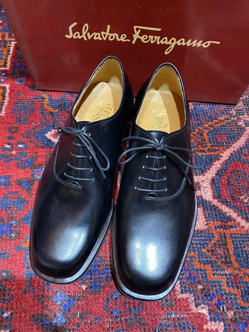 .Salvatore Ferragamo LEATHER PLAN TOE SHOES MADE IN ITALY/サルヴァトーレフェラガモレザープレーントゥシューズ 2000000048673