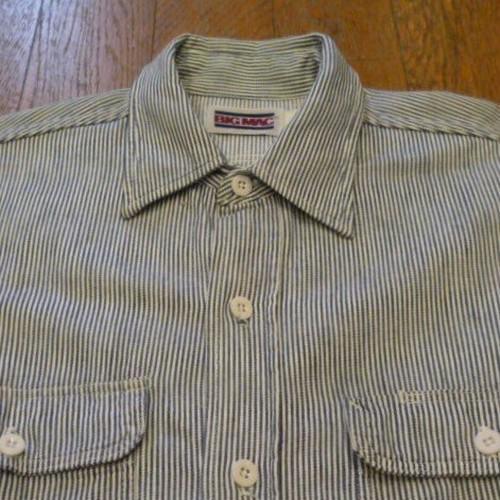 BIG MAC ヒッコリー ストライプ ワークシャツ 80年代製    ★送料無料 !!   sl100
