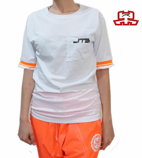 【JTB】 FRILL Tシャツ【蛍光オレンジ】【新作】イタリアンウェア【送料無料】《W》