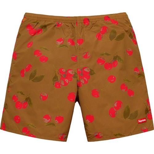 Supreme Nylon Water Short Pants Brown Cherry