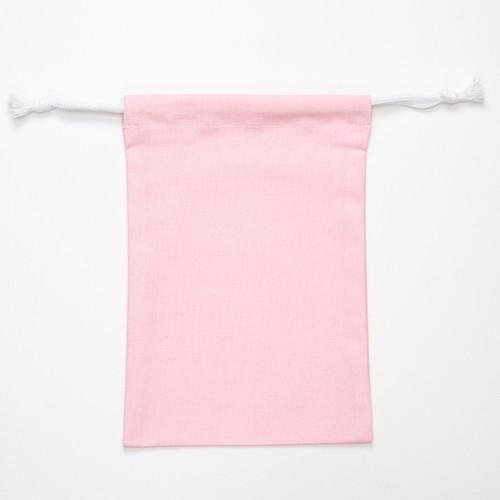 【annas Original】刺繍用きんちゃく ピンク/無地
